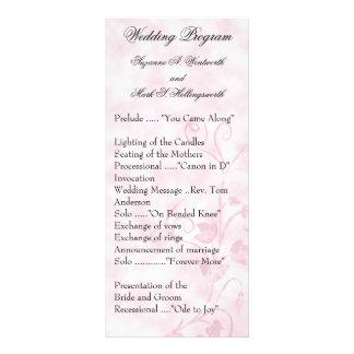 Contemporary Wedding Programs Pink