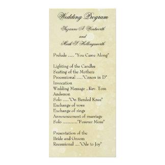 Contemporary Wedding Programs Full Color Rack Card