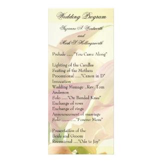 Contemporary Wedding Programs Custom Rack Card