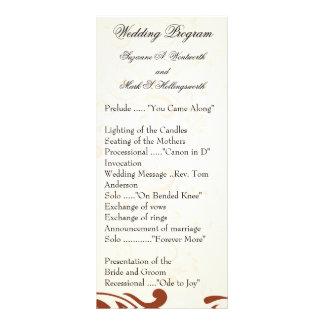Contemporary Wedding Programs - Tan