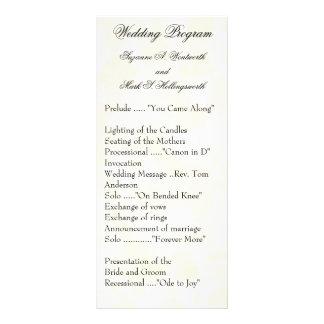 Contemporary Wedding Programs Yellow Custom Rack Cards