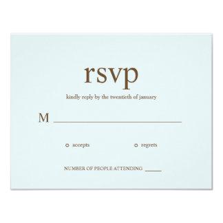 Contemporary Wedding RSVP cards - Blue