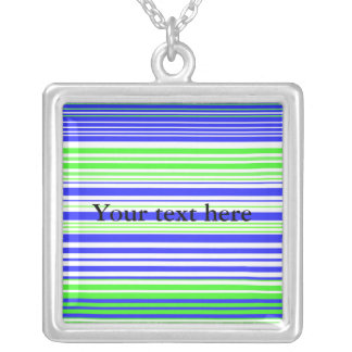 Contemporary white light green and blue stripes pendants