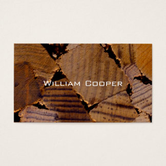 Contemporary Wood chip design Business Card