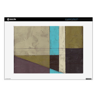 Contemporay Minimalist Painting with Deep Color Laptop Decal
