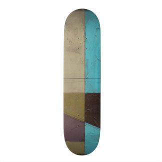 Contemporay Minimalist Painting with Deep Color Skate Decks