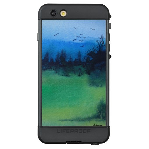 contempory spooky woodland green and black LifeProof NÜÜD iPhone 6s plus case