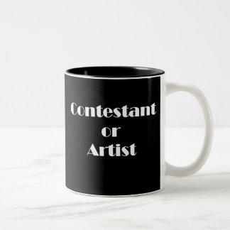 Contendiente o artista taza de café