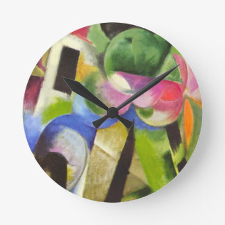Contenga los árboles de w de Franz Marc, arte Relojes