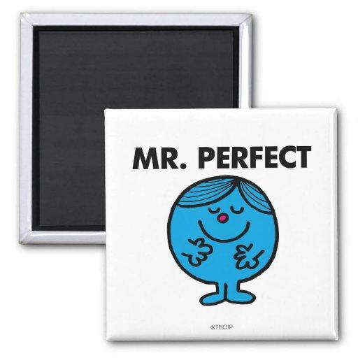 Contenido de Sr. Perfect el | reservado Imán Cuadrado