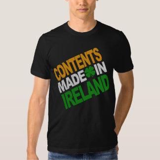 Contenido hecho en la camisa de Irlanda