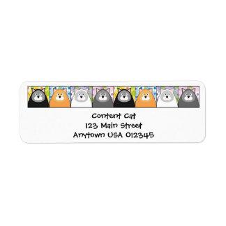 Content Cat Address Avery Label Return Address Label