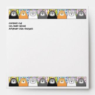 Content Cat Square Envelope