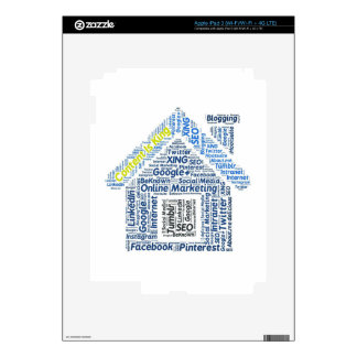 content-is-king word-cloud Social Media Text Faceb iPad 3 Skins