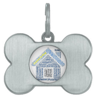 content-is-king word-cloud Social Media Text Faceb Pet ID Tag