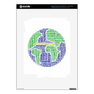 content-is-king word-cloud Social Media Text iPad 3 Decal
