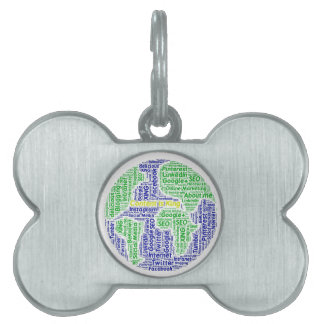 content-is-king word-cloud Social Media Text Pet ID Tag