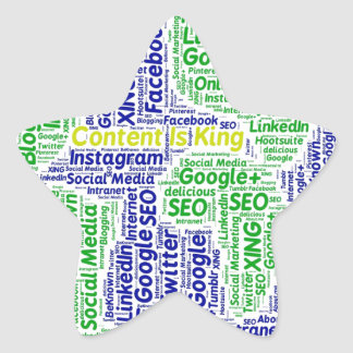 content-is-king word-cloud Social Media Text Star Sticker