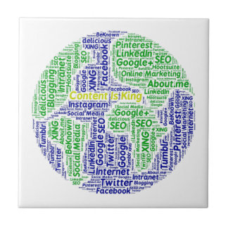 content-is-king word-cloud Social Media Text Tile