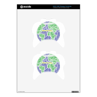 content-is-king word-cloud Social Media Text Xbox 360 Controller Skin