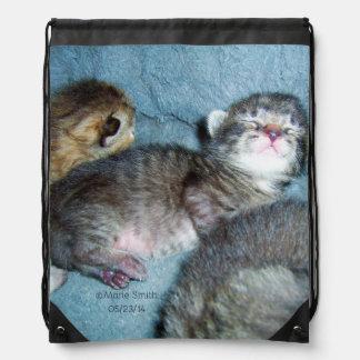 Content Kitten Drawstring Backpack