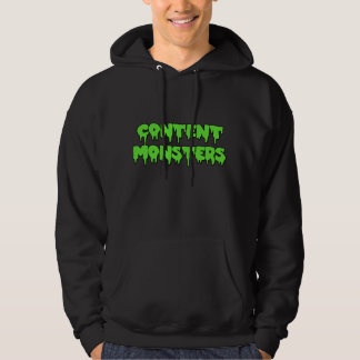 CONTENT MONSTERS CLASSIC BLACK HOODIE