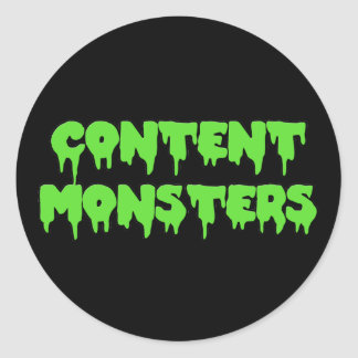 CONTENT MONSTERS ROUND STICKER CLASSIC