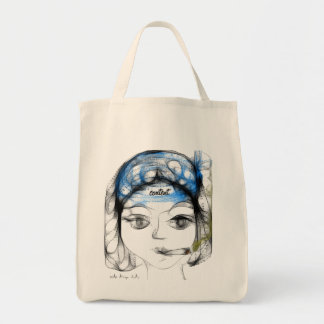 Content (Organic Bag) Grocery Tote Bag