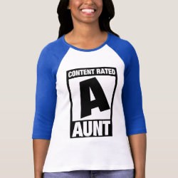 Ladies Raglan Fitted T-Shirt with Content Rated Aunt design