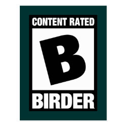 Postcard with Content Rated B: Birder design