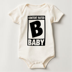 Infant Organic Creeper with Content Rated Baby design