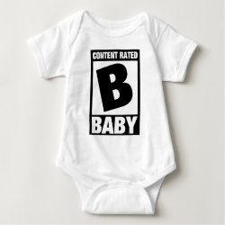 Baby Jersey Bodysuit with Content Rated Baby design