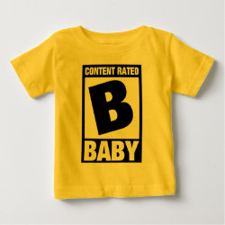 Baby Fine Jersey T-Shirt with Content Rated Baby design