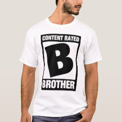 Men's Basic T-Shirt with Content Rated B for Brother design