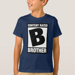 Kids' Hanes TAGLESS® T-Shirt with Content Rated B for Brother design