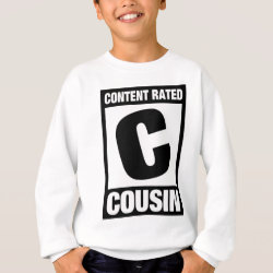 Kids' Hanes ComfortBlend® Sweatshirt with Content Rated C for Cousin design