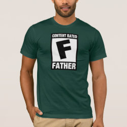 Content Rated Father Men's Basic American Apparel T-Shirt