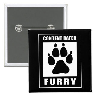 Content Rated Furry Button