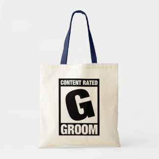 Content Rated G: Groom Canvas Bags