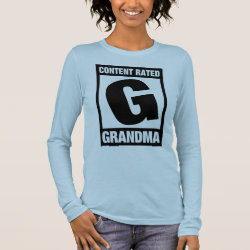 Women's Basic Long Sleeve T-Shirt with Content Rated Grandma design
