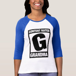 Content Rated Grandma Ladies Raglan Fitted T-Shirt