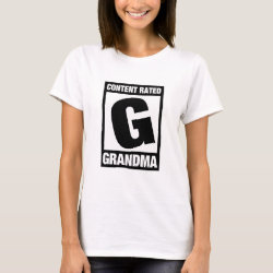 Women's Basic T-Shirt with Content Rated Grandma design