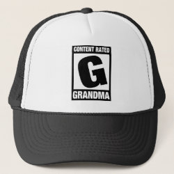 Trucker Hat with Content Rated Grandma design