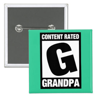 Content Rated Grandpa Pins