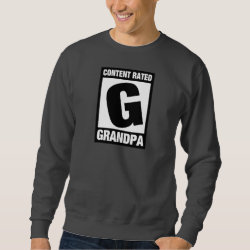 Men's Basic Sweatshirt with Content Rated Grandpa design