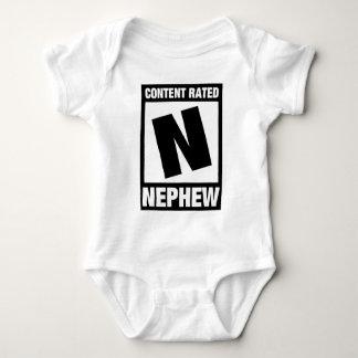 Content Rated Nephew Baby Bodysuit