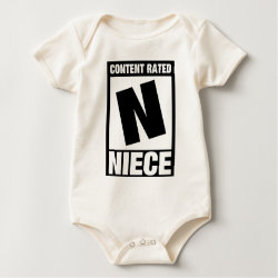Infant Organic Creeper with Content Rated Niece design