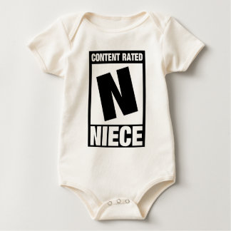 Content Rated Niece Baby Bodysuit