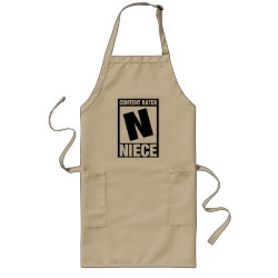 Long Apron with Content Rated Niece design