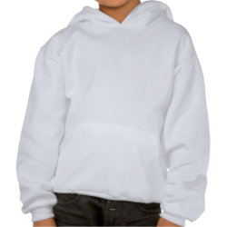 Kids Hooded Sweatshirt with Content Rated Sister design
